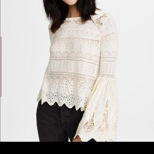 Free people lace top.